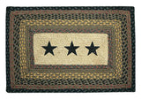 "Black Stars 20""x30"" Rectangle Braided Rug 67-099S"