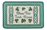 "Bless This Irish House 20""x30"" Rectangle Braided Jute Rug 67-116B"