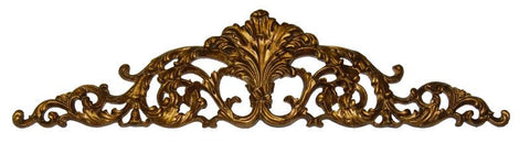 Arched and Scrolled Acanthus Leaves Over-the-Door Wall Decor in Etineene Gold Finish