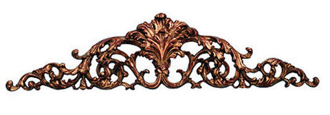 Arched and Scrolled Acanthus Leaves Over-the-Door Wall Decor in Rococo Finish