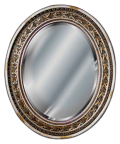 Antique Leaf Oval Wall Mirror Antique Reproduction in 60 Colors