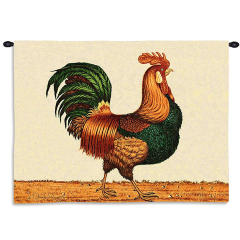 Country Rooster Art Tapestry Wall Hanging