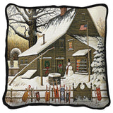 Cocoa Break at the Copperfields Art Tapestry Pillow