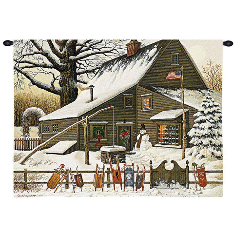 Cocoa Break at the Copperfields Art Tapestry Wall Hanging