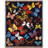 Butterflies Galore Art Tapestry Throw