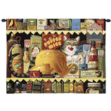 Ethel the Gourmet Cat Art Tapestry Wall Hanging