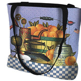 Peaches Art Tapestry Tote Bag