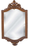 18th Century French Wall Mirror Antique Reproduction, Bronze Color Finish