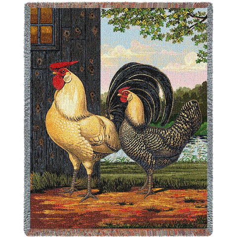 Chickens by Alexandra Churchill Art Tapestry Throw
