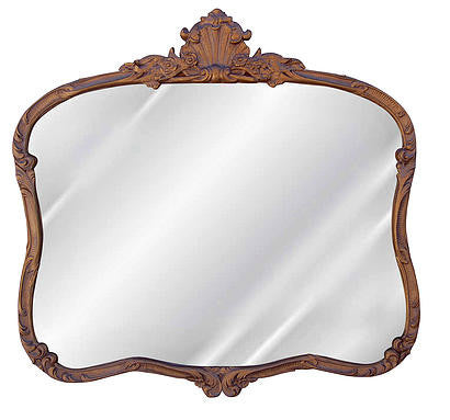French Buffet Wall Mirror Antique Reproduction, Bronze Color Finish