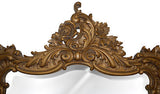 Elegant Wall Mirror Antique Reproduction, Antique Gold Color Finish