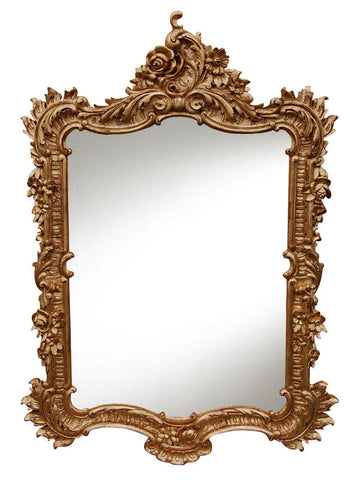 Elegant Wall Mirror Antique Reproduction, Gold Leaf Color Finish