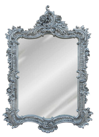 Elegant Wall Mirror Antique Reproduction, Shimmer Color Finish