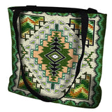 Sage Painted Hills Southwestern Style Art Tapestry Tote Bag