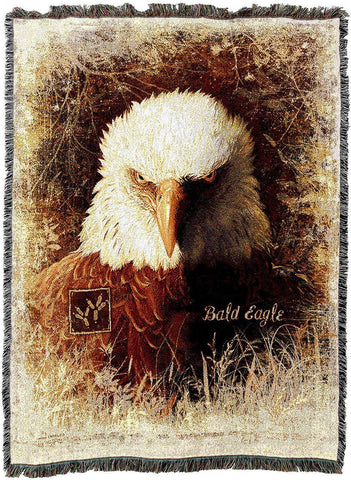 Bald Eagle Art Tapestry Throw