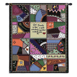 Our Family Is Like A Quilt Stitched With Love Art Tapestry Wall Hanging