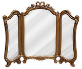 Bow and Ribbon Tri-Fold Vanity Mirror Antique Reproduction in 60 Colors
