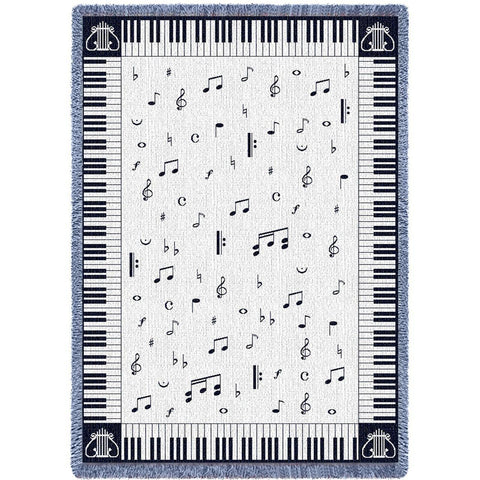Music Chords Art Tapestry Throw