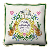 Lullabye and Goodnight Art Tapestry Pillow