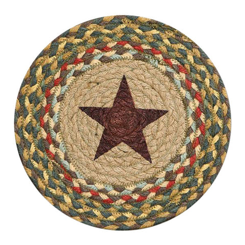 "Gold Star 10"" Round Braided Jute Trivet Set of 2 #80-051GS"