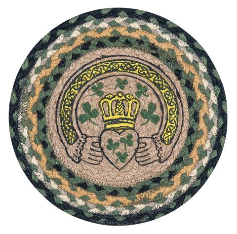 "Celtic 10"" Round Braided Jute Trivet 80-116C"