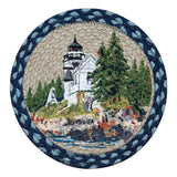 "Bass Harbor 10"" Round Braided Jute Trivet 80-311BH"