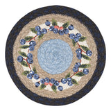 "Blueberry Vine 10"" Round Braided Jute Trivet 80-312BV"
