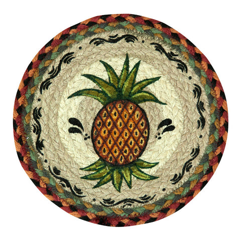"Pineapple 10"" Round Braided Jute Trivet Set of 2 #80-375P"