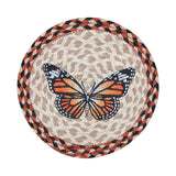 "Monarch Butterfly 10"" Round Braided Jute Trivet 80-536M"