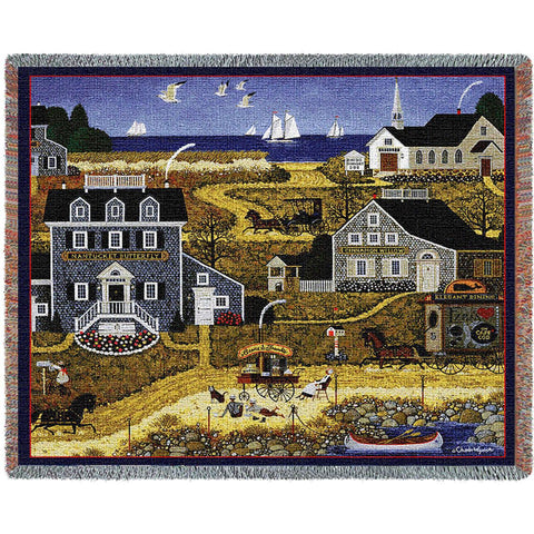 Salty Witch Bay Art Tapestry Throw