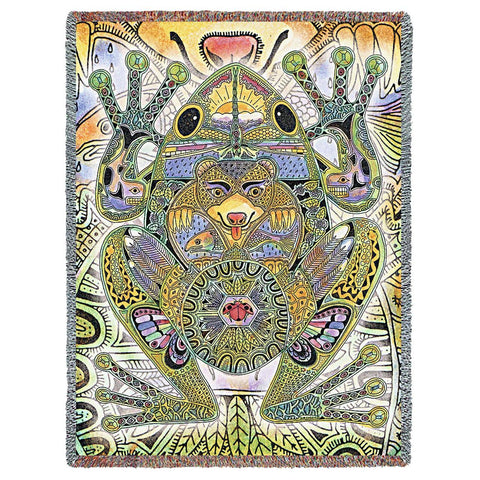 Frog by Sue Coccia Art Tapestry Throw