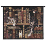 Frederick The Literate Cat Art Tapestry Wall Hanging
