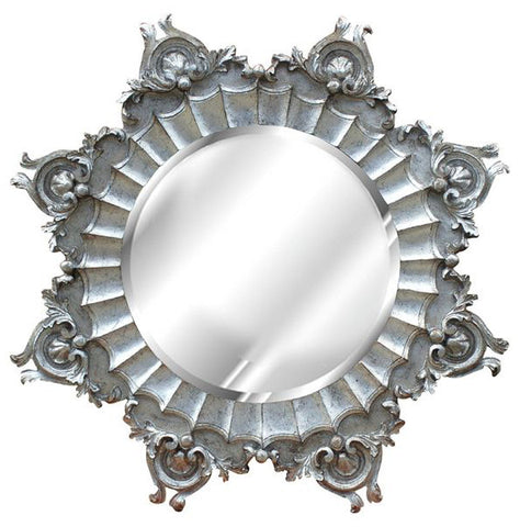 Medallion Wall Mirror Antique Reproduction, Shimmer Color Finish