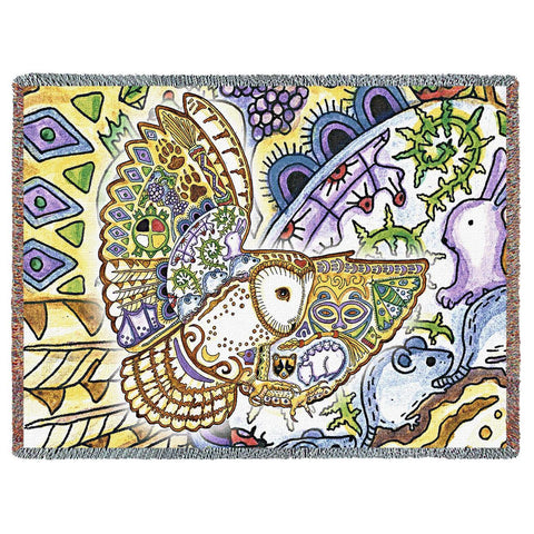 Barn Owl by Sue Coccia Art Tapestry Throw
