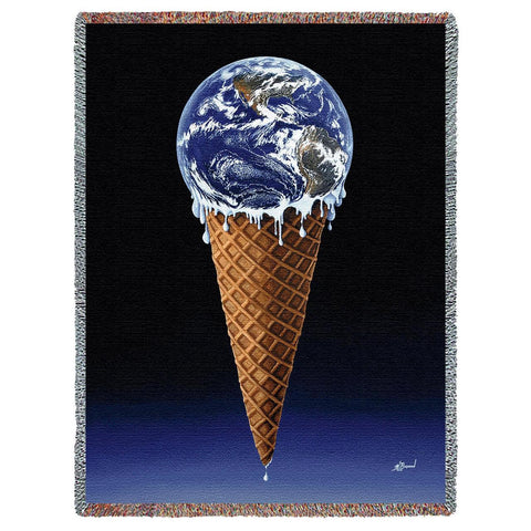 Savor Planet Earth Art Tapestry Throw