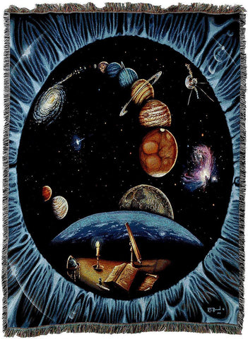 Solar System Past by Kurt C Burmann Art Tapestry Throw