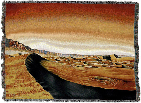 Mars Grand Canyon by Kurt C Burmann Art Tapestry Throw