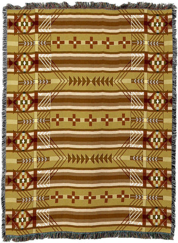 Antelope Ridge Juniper Southwestern Inspired Woven Art Tapestry Throw