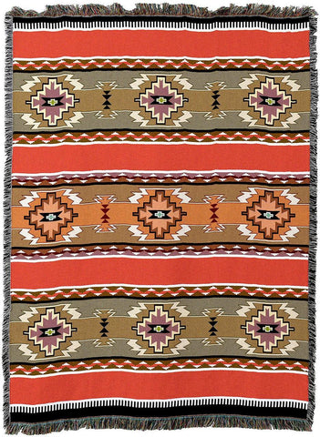 Rimrock Dusk Southwestern Inspired Woven Art Tapestry Throw