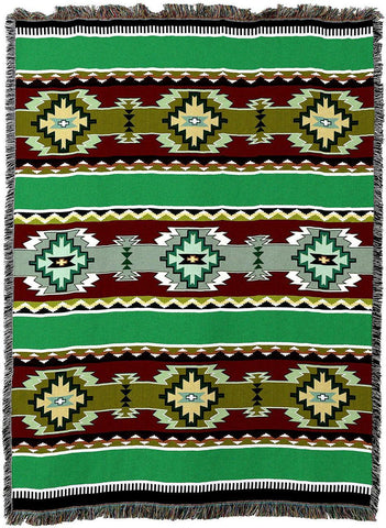 Rimrock Spring Southwestern Inspired Woven Art Tapestry Throw