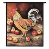 English Cockerel Art Tapestry Wall Hanging