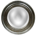 Convex Round Wall Mirror Antique Reproduction, Shimmer Color Finish