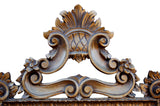 European Carved Style Wall Mirror Antique Reproduction, Antique Gold Color Finish