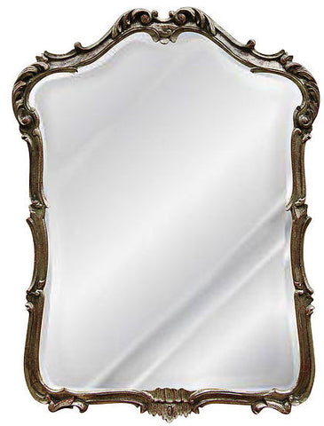 Ornate Acanthus Leaf Wall Mirror Antique Reproduction, Rococo Color Finish