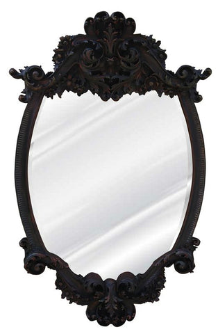 Acanthus Frill Wall Mirror Antique Reproduction, Blackberry Color Finish