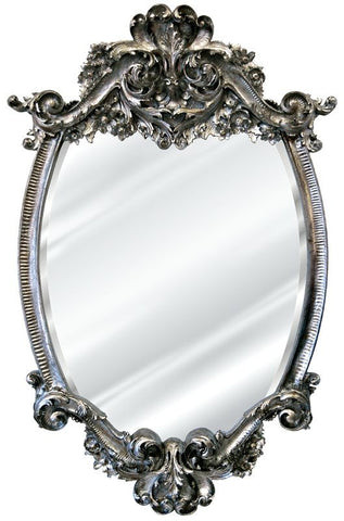 Acanthus Frill Wall Mirror Antique Reproduction, Monarchy Color Finish