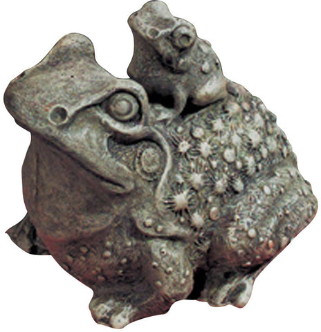 Mama and Baby Toad Key Safe Outdoor Statue in 60 Colors
