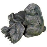 Bunny with Tulips Key Safe Outdoor Statue in 60 Colors