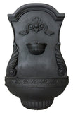 Classic Shell Motif Outdoor Wall Water Fountain, Black Color Finish