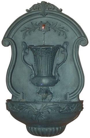 Elegant Urn Motif Outdoor Wall Water Fountain in 60 Colors